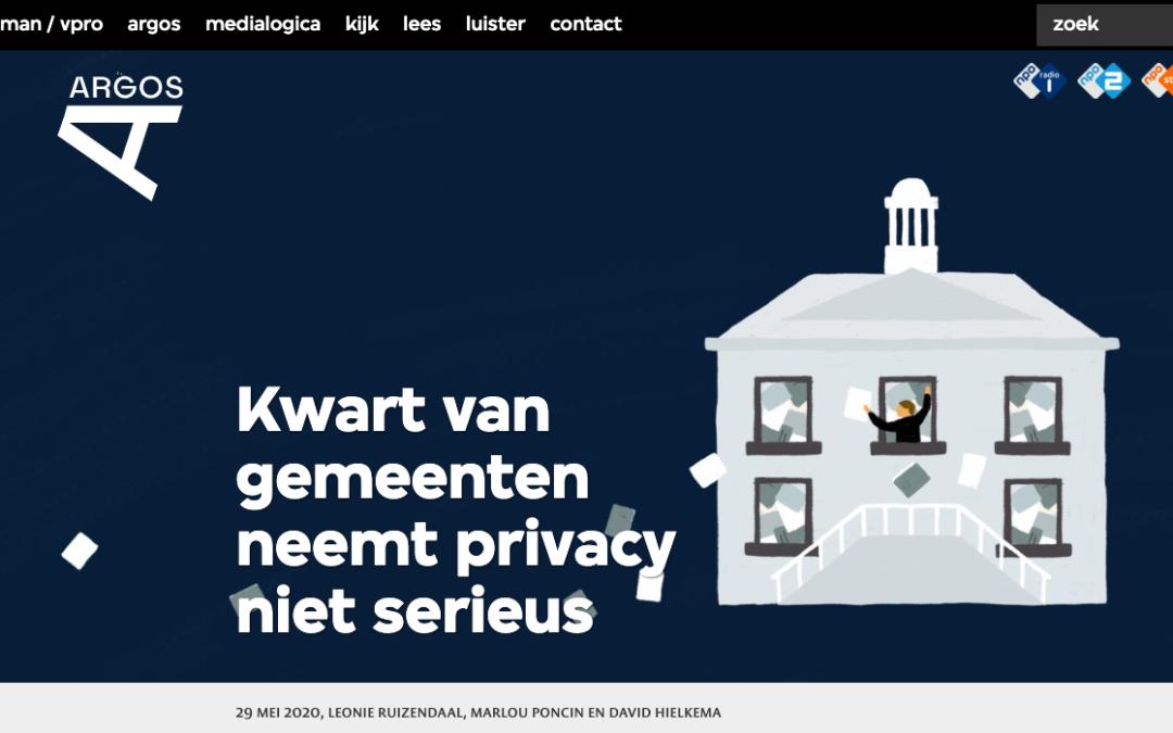 Argos: 'Kwart van gemeenten neemt privacy niet serieus'