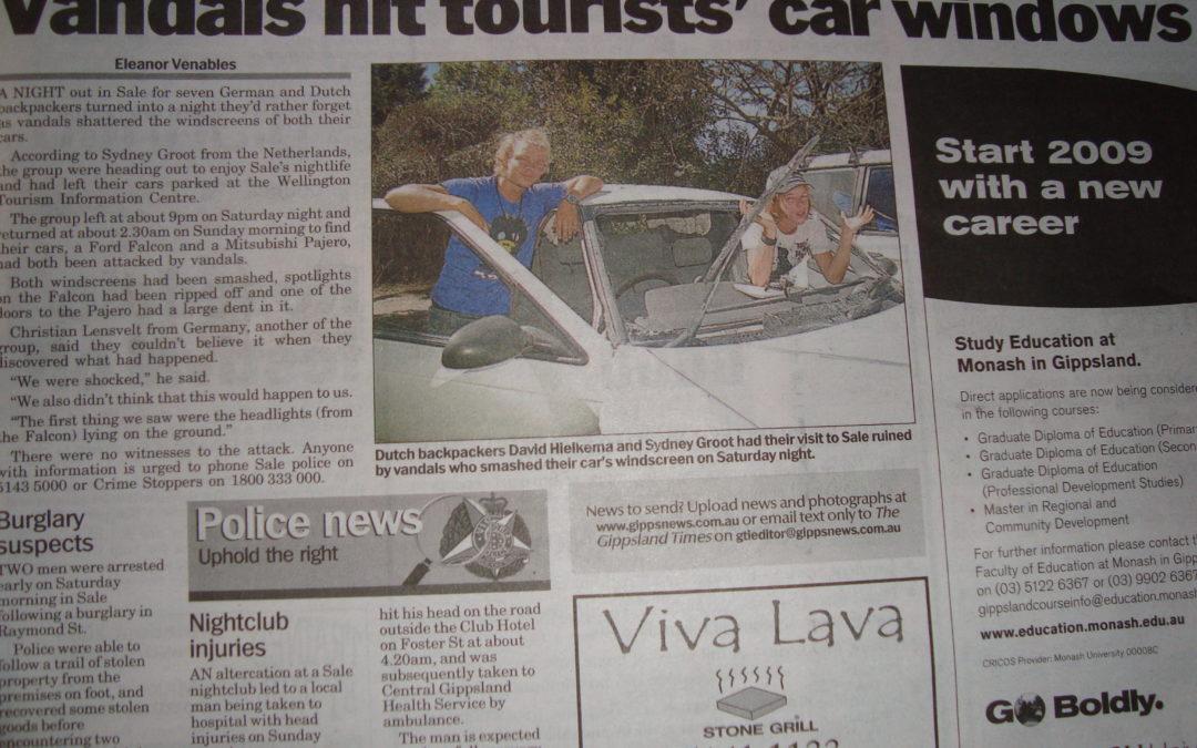 #9 We staan in de Australische krant
